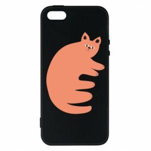 Etui na iPhone 5/5S/SE Strange ginger cat