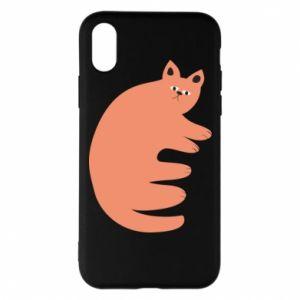 Etui na iPhone X/Xs Strange ginger cat