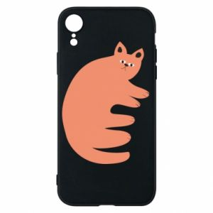 Etui na iPhone XR Strange ginger cat