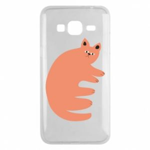 Etui na Samsung J3 2016 Strange ginger cat