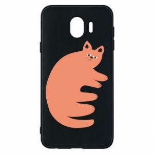 Etui na Samsung J4 Strange ginger cat