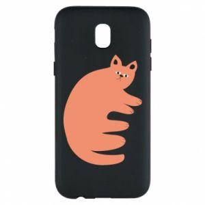 Etui na Samsung J5 2017 Strange ginger cat