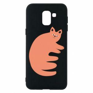 Etui na Samsung J6 Strange ginger cat