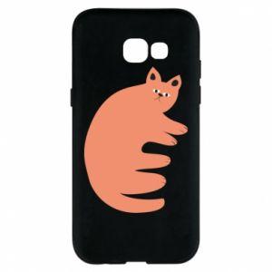 Etui na Samsung A5 2017 Strange ginger cat