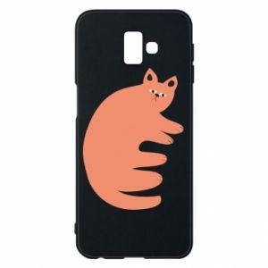 Etui na Samsung J6 Plus 2018 Strange ginger cat