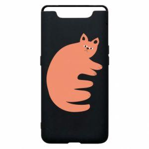 Etui na Samsung A80 Strange ginger cat