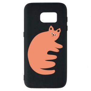 Etui na Samsung S7 Strange ginger cat