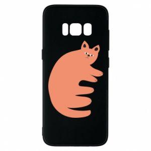 Etui na Samsung S8 Strange ginger cat
