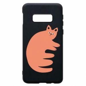 Etui na Samsung S10e Strange ginger cat