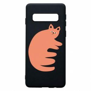 Etui na Samsung S10 Strange ginger cat