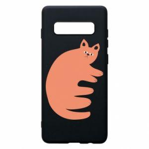 Etui na Samsung S10+ Strange ginger cat