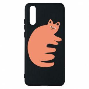 Etui na Huawei P20 Strange ginger cat