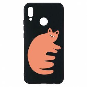 Etui na Huawei P20 Lite Strange ginger cat