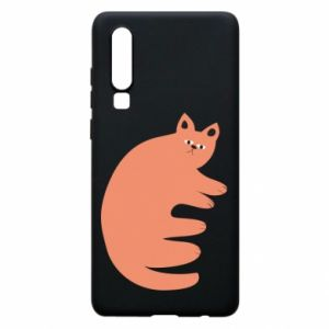 Etui na Huawei P30 Strange ginger cat