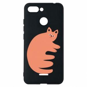 Etui na Xiaomi Redmi 6 Strange ginger cat