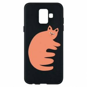 Etui na Samsung A6 2018 Strange ginger cat