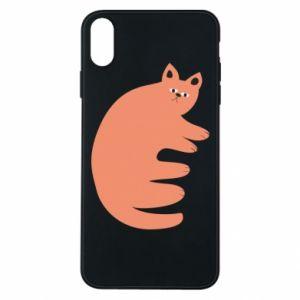Etui na iPhone Xs Max Strange ginger cat
