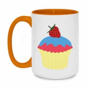 Kubek dwukolorowy 450ml Strawberry Cupcake