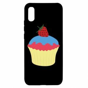 Etui na Xiaomi Redmi 9a Strawberry Cupcake