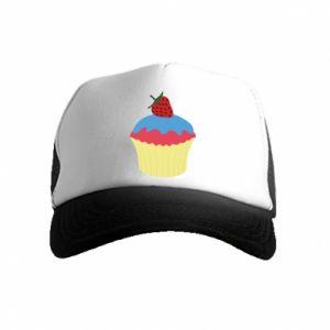 Czapka trucker dziecięca Strawberry Cupcake