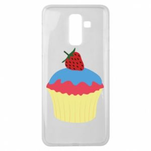Etui na Samsung J8 2018 Strawberry Cupcake