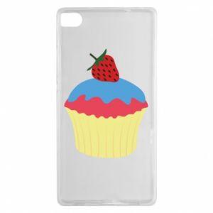 Etui na Huawei P8 Strawberry Cupcake