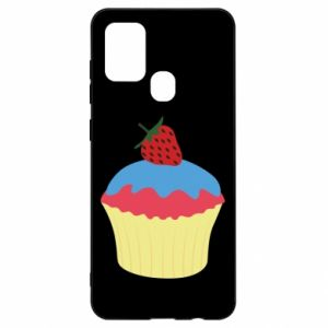 Etui na Samsung A21s Strawberry Cupcake