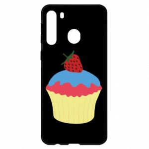 Etui na Samsung A21 Strawberry Cupcake
