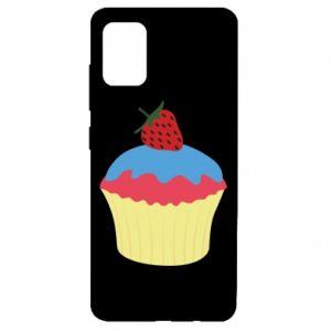 Etui na Samsung A51 Strawberry Cupcake