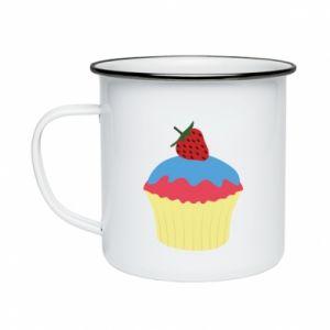 Kubek emaliowany Strawberry Cupcake
