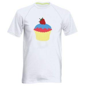 Koszulka sportowa męska Strawberry Cupcake