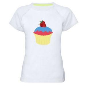 Koszulka sportowa damska Strawberry Cupcake