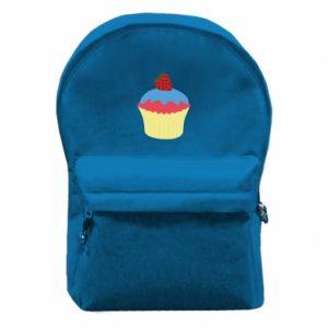 Plecak z przednią kieszenią Strawberry Cupcake