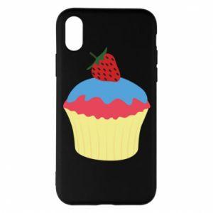 Etui na iPhone X/Xs Strawberry Cupcake