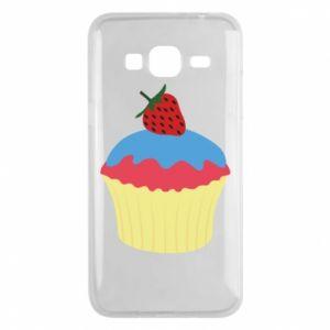 Etui na Samsung J3 2016 Strawberry Cupcake