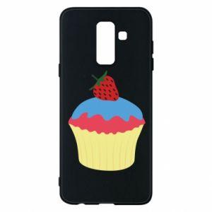 Etui na Samsung A6+ 2018 Strawberry Cupcake
