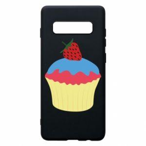 Etui na Samsung S10+ Strawberry Cupcake