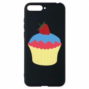 Etui na Huawei Y6 2018 Strawberry Cupcake