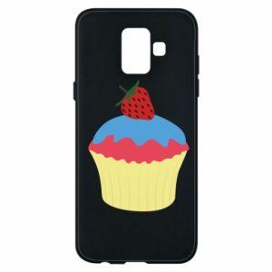 Etui na Samsung A6 2018 Strawberry Cupcake
