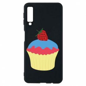 Etui na Samsung A7 2018 Strawberry Cupcake