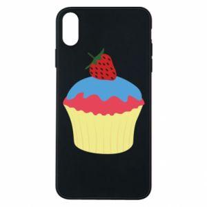 Etui na iPhone Xs Max Strawberry Cupcake