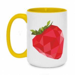 Kubek dwukolorowy 450ml Strawberry graphics
