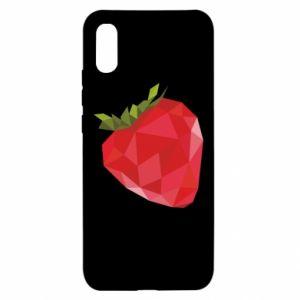 Etui na Xiaomi Redmi 9a Strawberry graphics