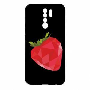 Etui na Xiaomi Redmi 9 Strawberry graphics