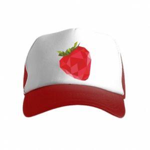 Czapka trucker dziecięca Strawberry graphics