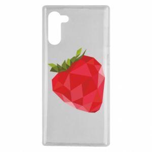 Etui na Samsung Note 10 Strawberry graphics