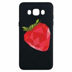 Etui na Samsung J7 2016 Strawberry graphics