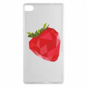 Etui na Huawei P8 Strawberry graphics