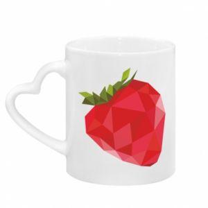 Kubek z uchwytem w kształcie serca Strawberry graphics