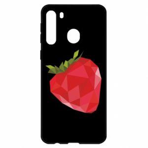 Etui na Samsung A21 Strawberry graphics